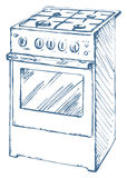 Stove. Vector drawing Stock Photos