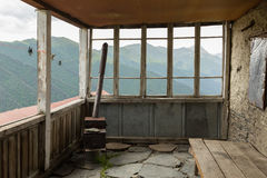 Stove on a veranda Stock Photo