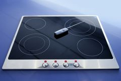 Stove vitroceramic electric kitchen wireless Stock Photo
