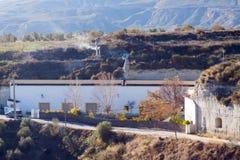 Stovepipe των σπηλιών κατοικιών Cortes de Baza στοκ φωτογραφία