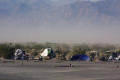 Stovepipe-Vertiefungen in Death Valley Lizenzfreie Stockbilder