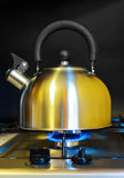 Stovetop whistling kettle Royalty Free Stock Photo