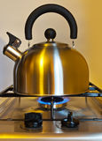 Stovetop whistling kettle Stock Image
