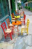 Stołów krzesła Zdjęcia Stock