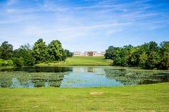 Stowe房子和庭院 库存图片