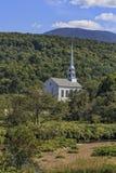 教会在Stowe佛蒙特 免版税库存照片