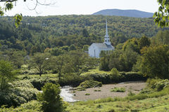 Stowe Community Church. From a distance Royalty Free Stock Images