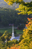 Stowe Community Church in the early fall Stock Images