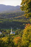 Stowe Community Church in the early fall Royalty Free Stock Photos