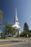 Stowe Community Church. New England Royalty Free Stock Photography