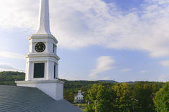 Stowe Community Church steeple Stock Photos
