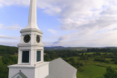 Stowe Community Church steeple Royalty Free Stock Images