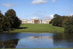 Stowe Gardens and house Royalty Free Stock Photos