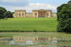 Stowe House And Its Reflection Stock Photography