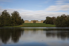 Stowe House from the bank of the Octagon Lake Stock Photography
