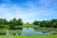 Stowe ogród i dom Zdjęcia Royalty Free