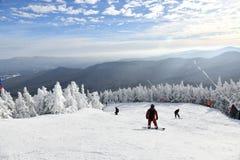 Free Stowe Ski Resort In Vermont, View To The Mountain Slopes Stock Photos - 205924083