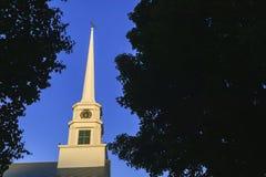 Stowe społeczności kościół steeple obraz stock