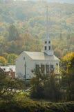 Stowe Vermont en automne image stock