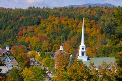 Stowe, Vermont. Foliage in Stowe, Vermont this Fall Stock Images