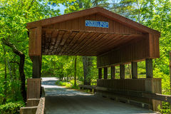 Stowell Road Covered Bridge Royalty Free Stock Photo