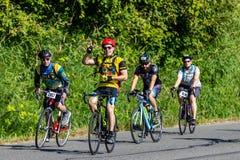 STP 2018 Σιάτλ στους ποδηλάτες του Πόρτλαντ που έχουν το χρόνο των ζωών τους μια όμορφη θερινή ημέρα στοκ εικόνα