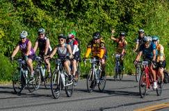 STP Сиэтл 2018 к велосипедистам Портленда имея время их жизней на красивый летний день Стоковые Фото