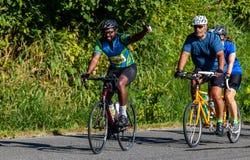 STP Сиэтл 2018 к велосипедистам Портленда имея время их жизней на красивый летний день Стоковые Изображения