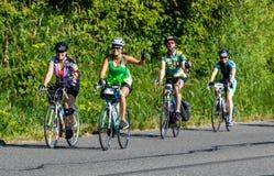 STP Сиэтл 2018 к велосипедистам Портленда имея время их жизней на красивый летний день Стоковое Изображение RF