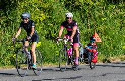 STP Сиэтл 2018 к велосипедистам Портленда имея время их жизней на красивый летний день Стоковое Изображение