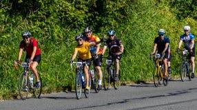 STP 2018 Seattle aan de fietsers die van Portland de tijd van hun leven op een mooie de zomerdag hebben royalty-vrije stock fotografie