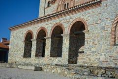 StPanteleimon修道院在奥赫里德 图库摄影