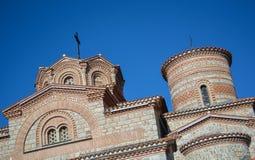 StPanteleimon修道院在奥赫里德 免版税库存照片