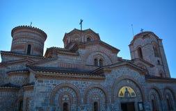 StPanteleimon kloster i Ohrid Arkivfoto