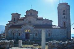 StPanteleimon kloster i Ohrid Arkivfoton