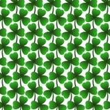 StPatrick` s dag, 17 Maart Lucky Day, groen bladerenpatroon Stock Afbeeldingen