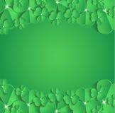 StPatrick-` s Tagesglückwunsch-Grußkarte Lizenzfreies Stockfoto