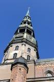 StPeter大教堂,里加,拉脱维亚 库存照片