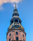 StPeter& x27; s大教堂在里加,拉脱维亚 库存图片
