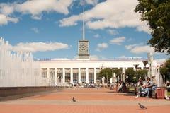StPeterburg俄罗斯13 威严2012年:芬兰驻地的大厦 彼得斯堡圣徒 免版税图库摄影