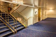 StPETERBURG, RUSLAND - OKTOBER 24: Interne ruimten van de veerbootprinses Maria, 24 OKTOBER 2016 Stock Foto