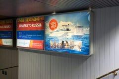 StPETERBURG, RUSLAND - OKTOBER 24: Interne ruimten van de veerbootprinses Maria, 24 OKTOBER 2016 Royalty-vrije Stock Afbeeldingen
