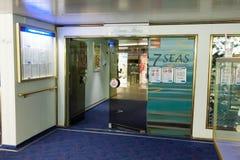 StPETERBURG, RUSSLAND - 25. Oktober: Interne Räume der Fähre Prinzessin Maria, am 25. Oktober 2016 Lizenzfreie Stockfotos
