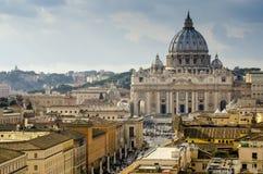 StPeters Kathedralenansicht von der Spitze Lizenzfreies Stockbild