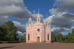 StPetersburg的,俄罗斯Chesma大教堂 库存照片