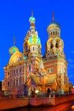 StPetersburg,俄罗斯,救主的正统寺庙教会血液的 免版税库存照片