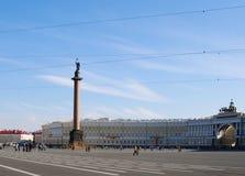 StPetersburg,俄罗斯- 2014年10月7日:Dvortcovaya (宫殿)正方形 库存照片
