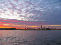 StPetersburg, coucher du soleil Photo stock