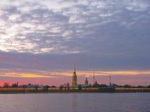 StPetersburg, coucher du soleil Images libres de droits