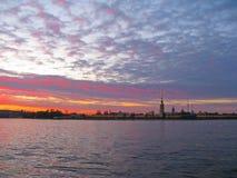 StPetersburg, puesta del sol Foto de archivo